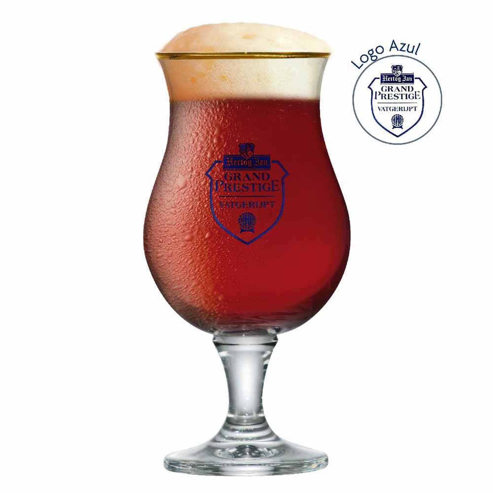 Taça de Cerveja Rótulo Frases Hertog Jan Mater Vidro 410ml