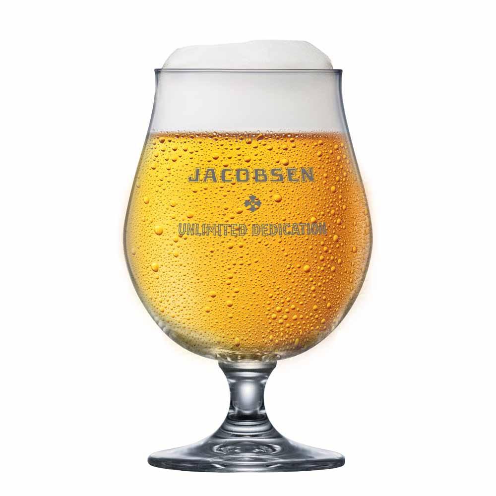 Taça de Cerveja Rótulo Frases Jacobsen Above Cristal 520ml