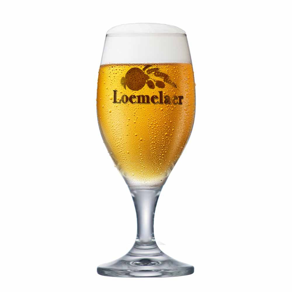Taça de Cerveja Rótulo Frases Loemelaer Cristal 260ml