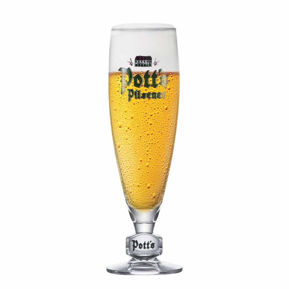 Taça de Cerveja Rótulo Frases Potts Pokal .25 Cristal 340ml