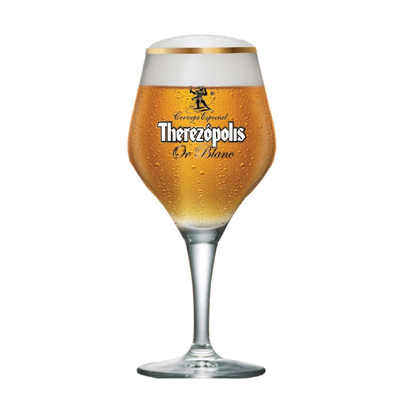 Taça de Cerveja Therezopolis Or Blanc Cristal 615ml