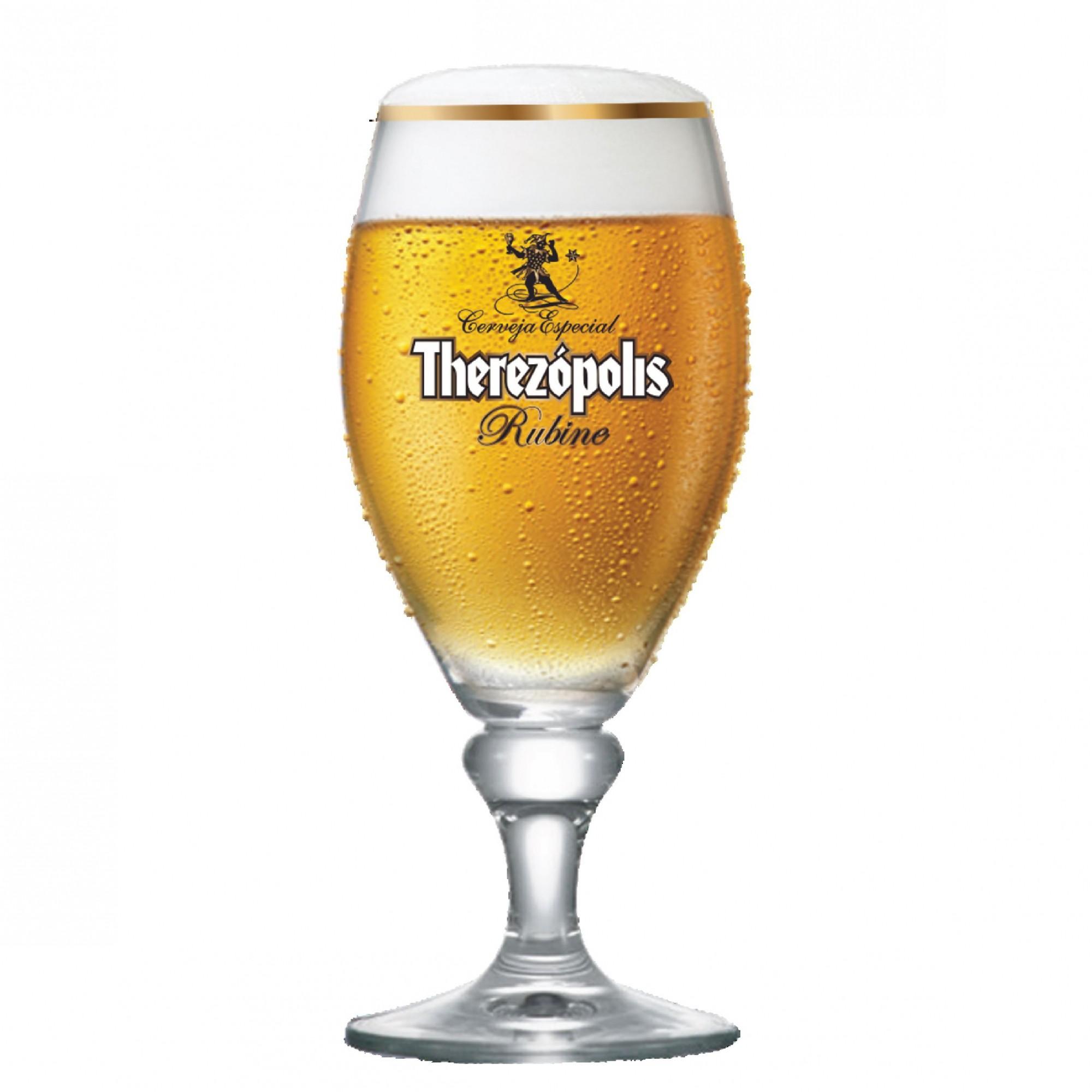 Taça de Cerveja Therezopolis Rubine Cristal 385ml