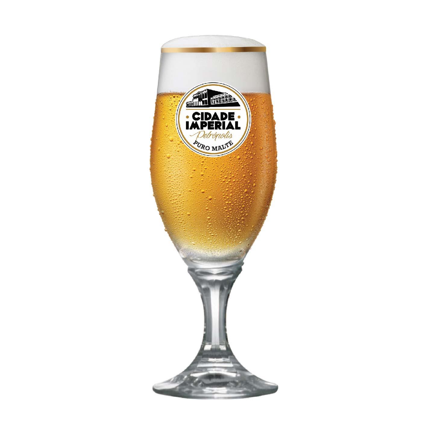 Taça de Cerveja Velt Cidade Imperial Cristal 315ml