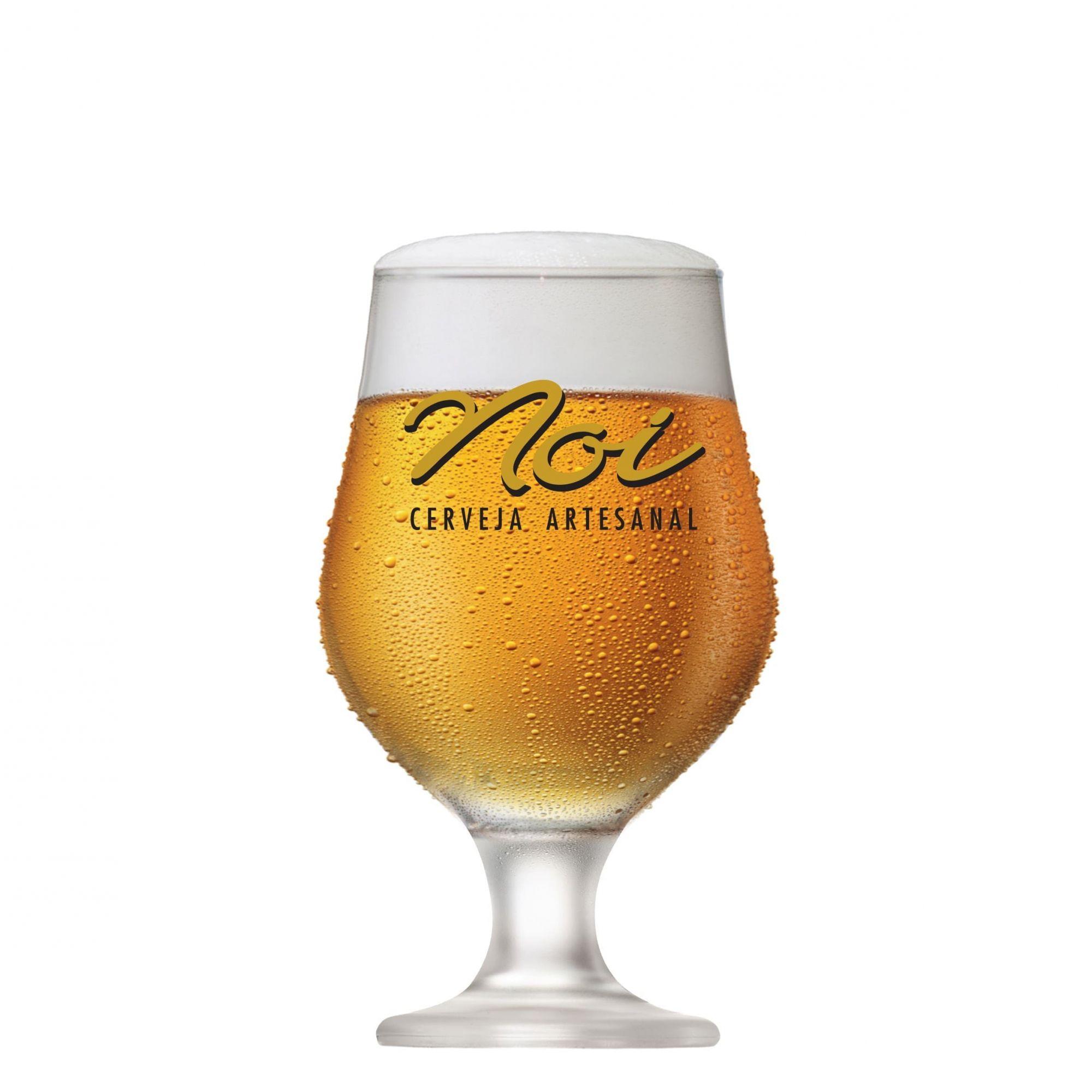 Taça de Cerveja Vidro Tulipa Noi Cerveja Artesanal 380ml