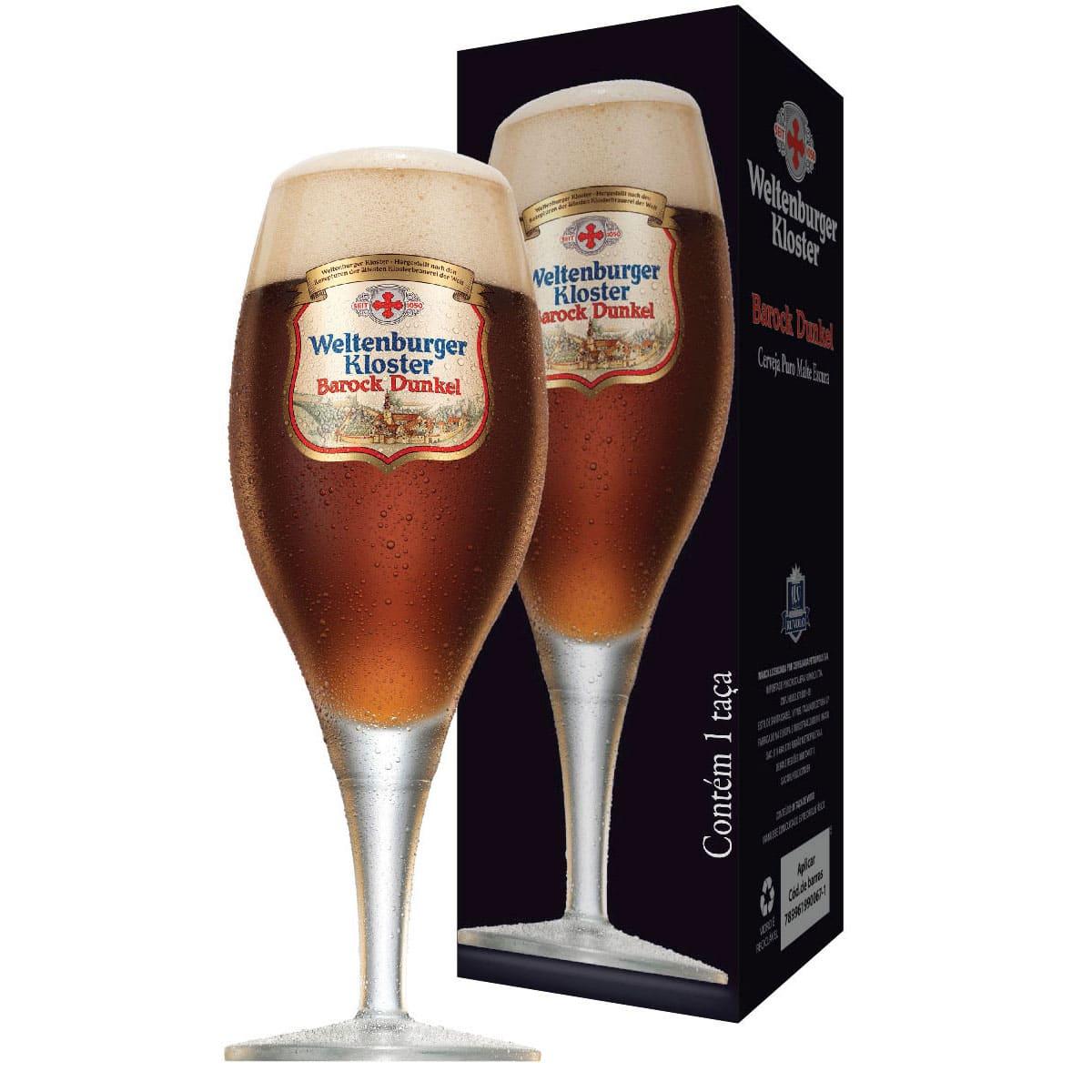Taça de Cervejas Weltenburguer Barock Dunkel 400ml