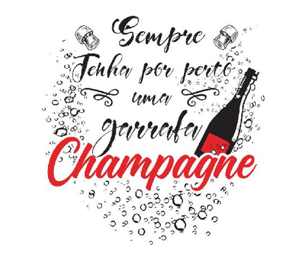 Taça de Champagne Frases Divertidas Sempre Akron 240ml