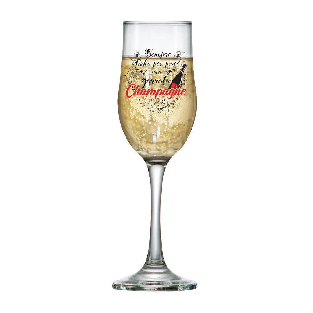 Taça de Champagne Frases Divertidas Sempre Barcelona 210ml