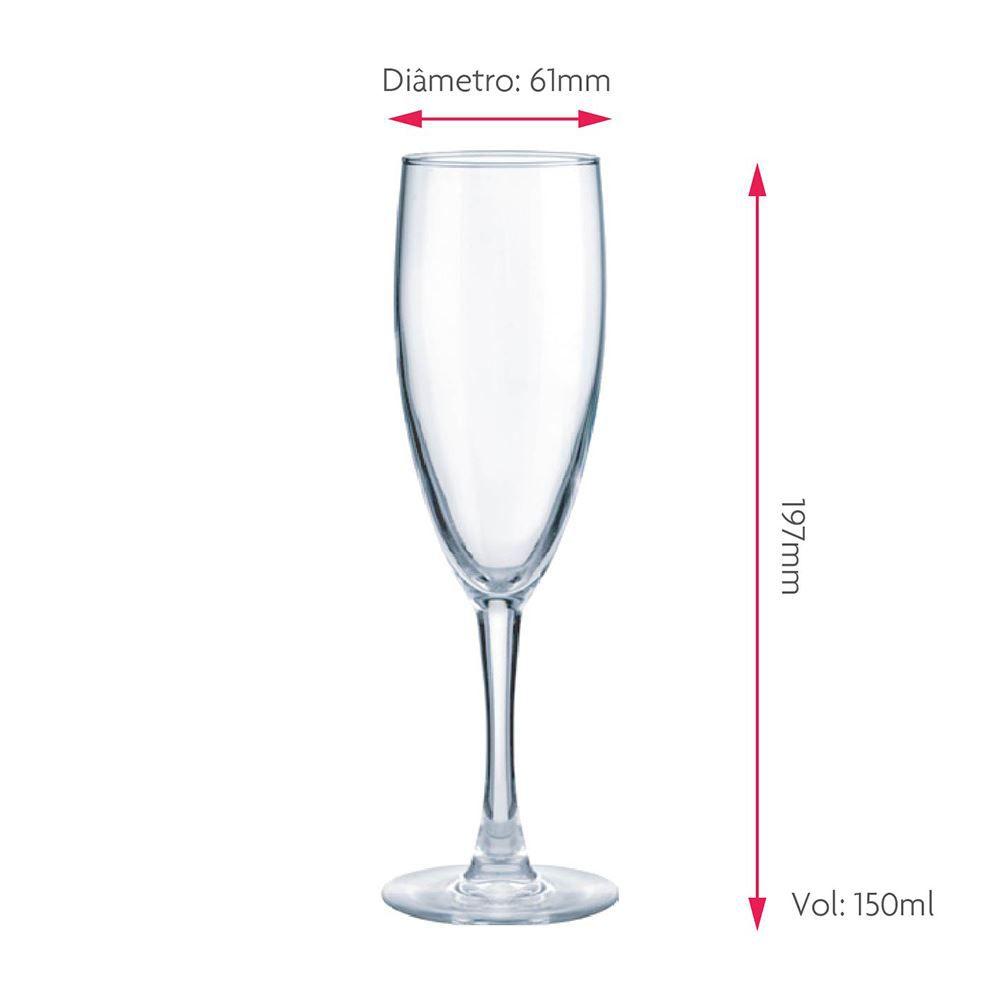 Taça de Champagne Frases Hora de Beber Bourbon 150ml