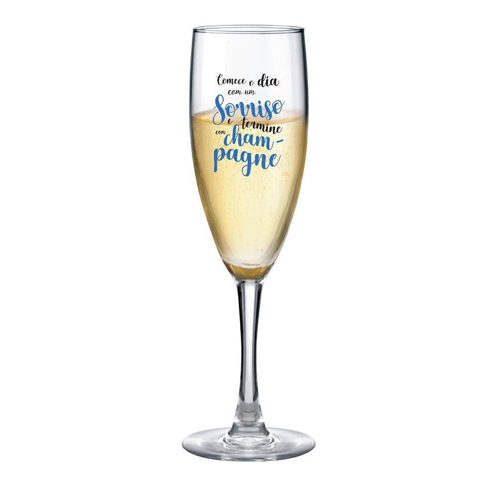 Taça de Champagne Frases Legais Comece o Dia Bourbon 150ml