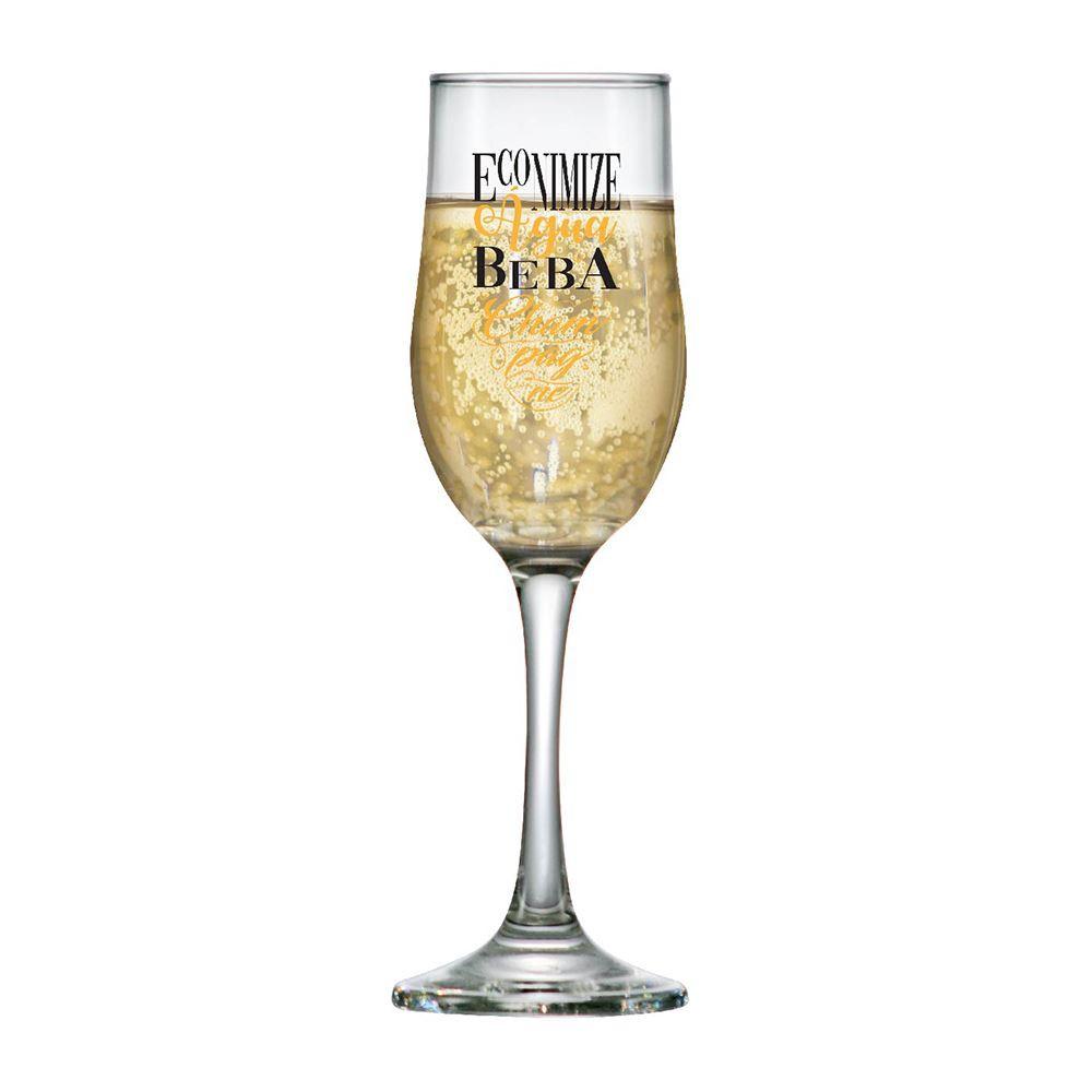 Taça de Champagne Frases Legais Economize Barcelona 210ml