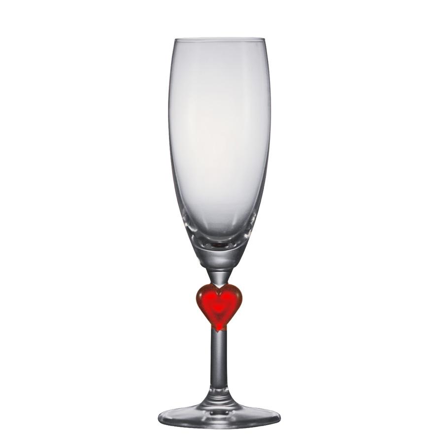 Taça de Champanhe Cristal Herzflutes Red 215ml 2pcs
