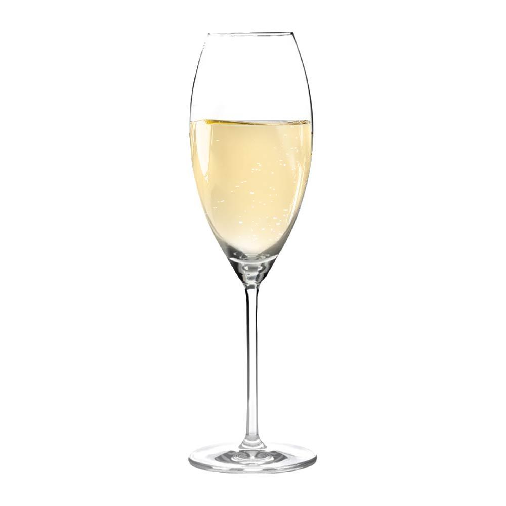 Taça de Champanhe de Cristal Aspergo 320ml 6 Pcs