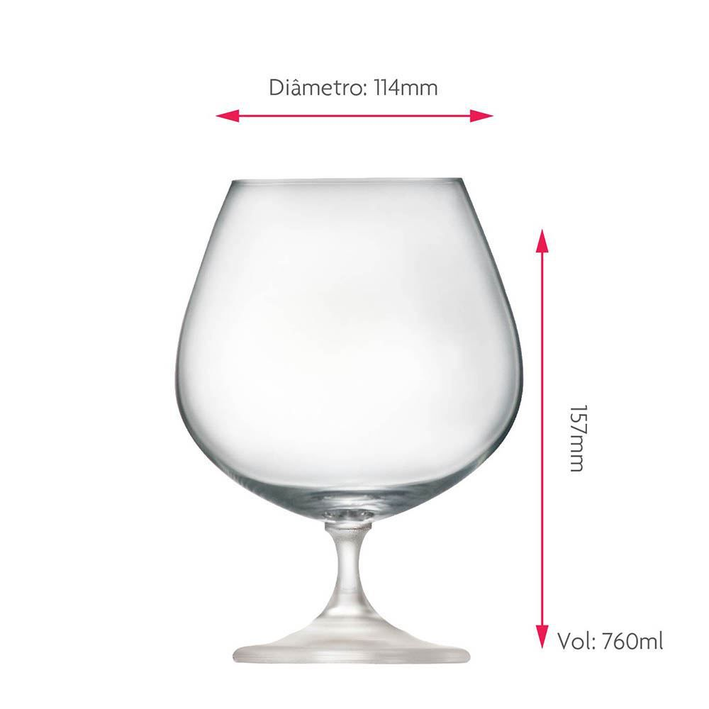 Taça de Cerveja de Cristal Snifter 760ml
