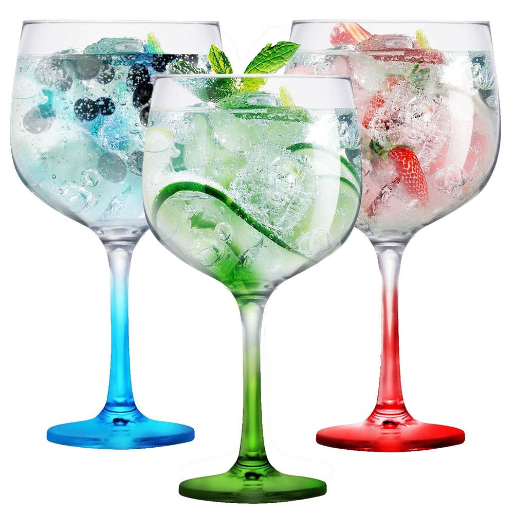 Taça de Gin de Vidro Degradê Colorida 650ml 1 Pc