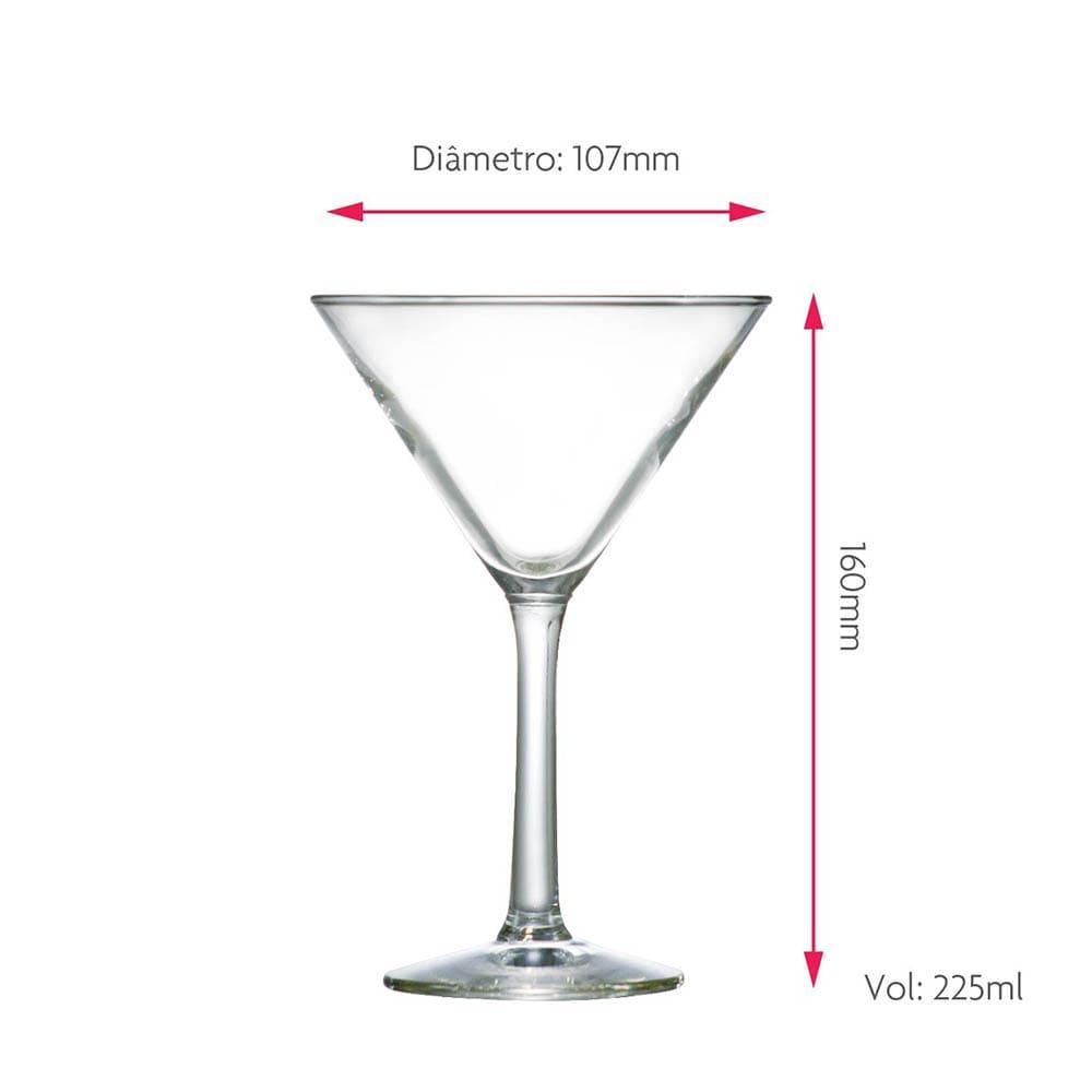 Taça para Martini Martini Vidro 225ml