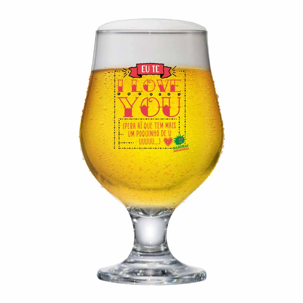Taça de Vidro Beer Master Mamonas Assassinas ILY 380ml
