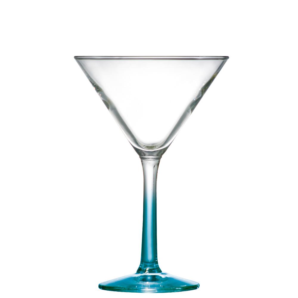 Taça de Vidro Martini Haste Azul 285ml