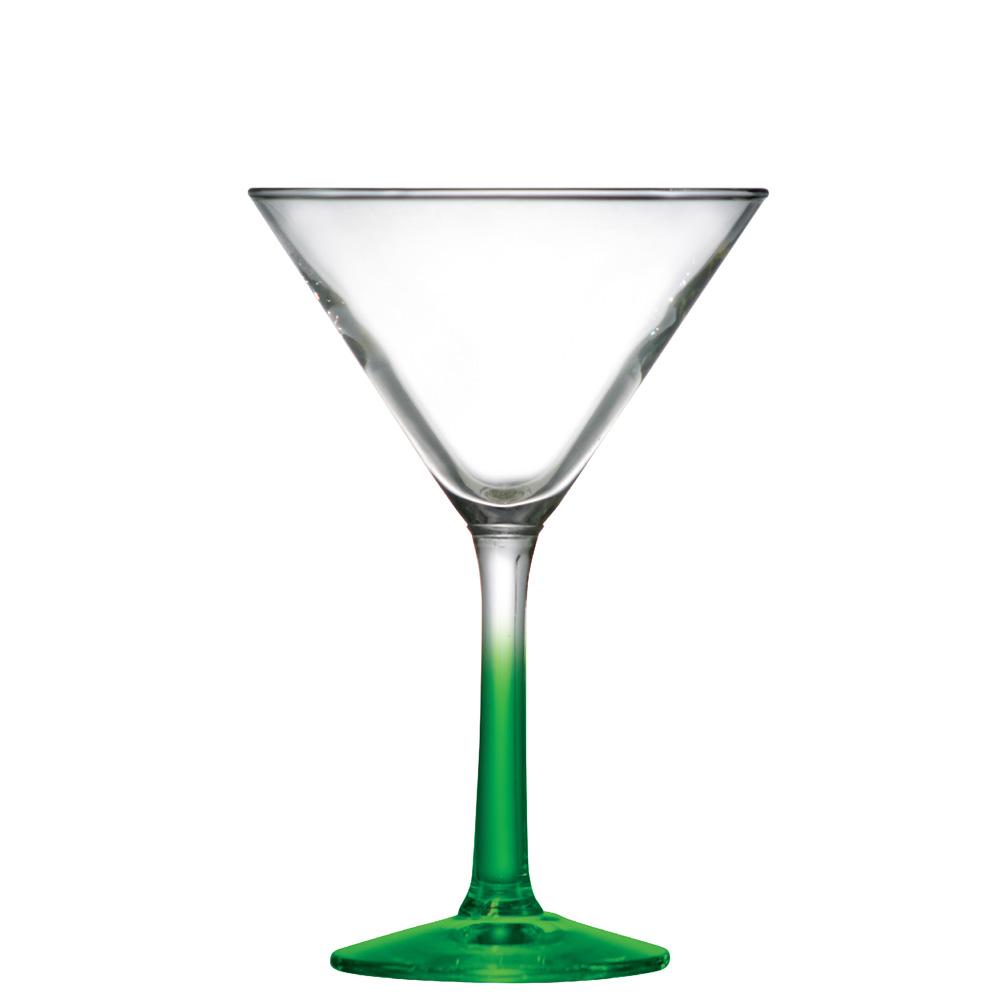 Taça de Vidro Martini Haste Verde 285ml