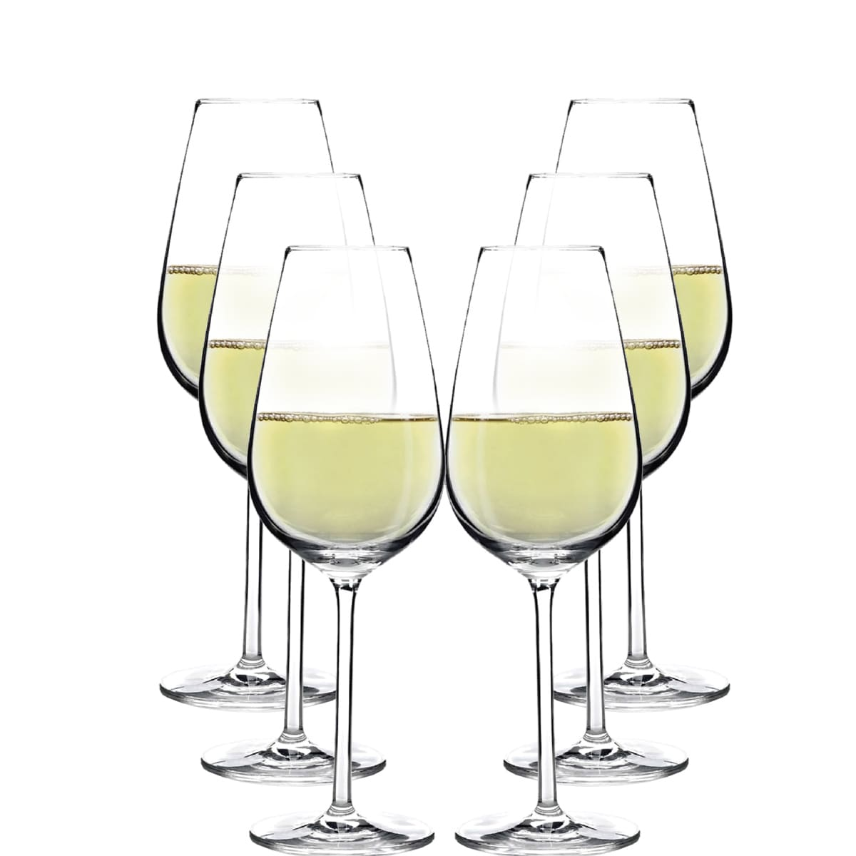 Taça de Vinho Branco Aspergo de Cristal 370ml 6 Pcs