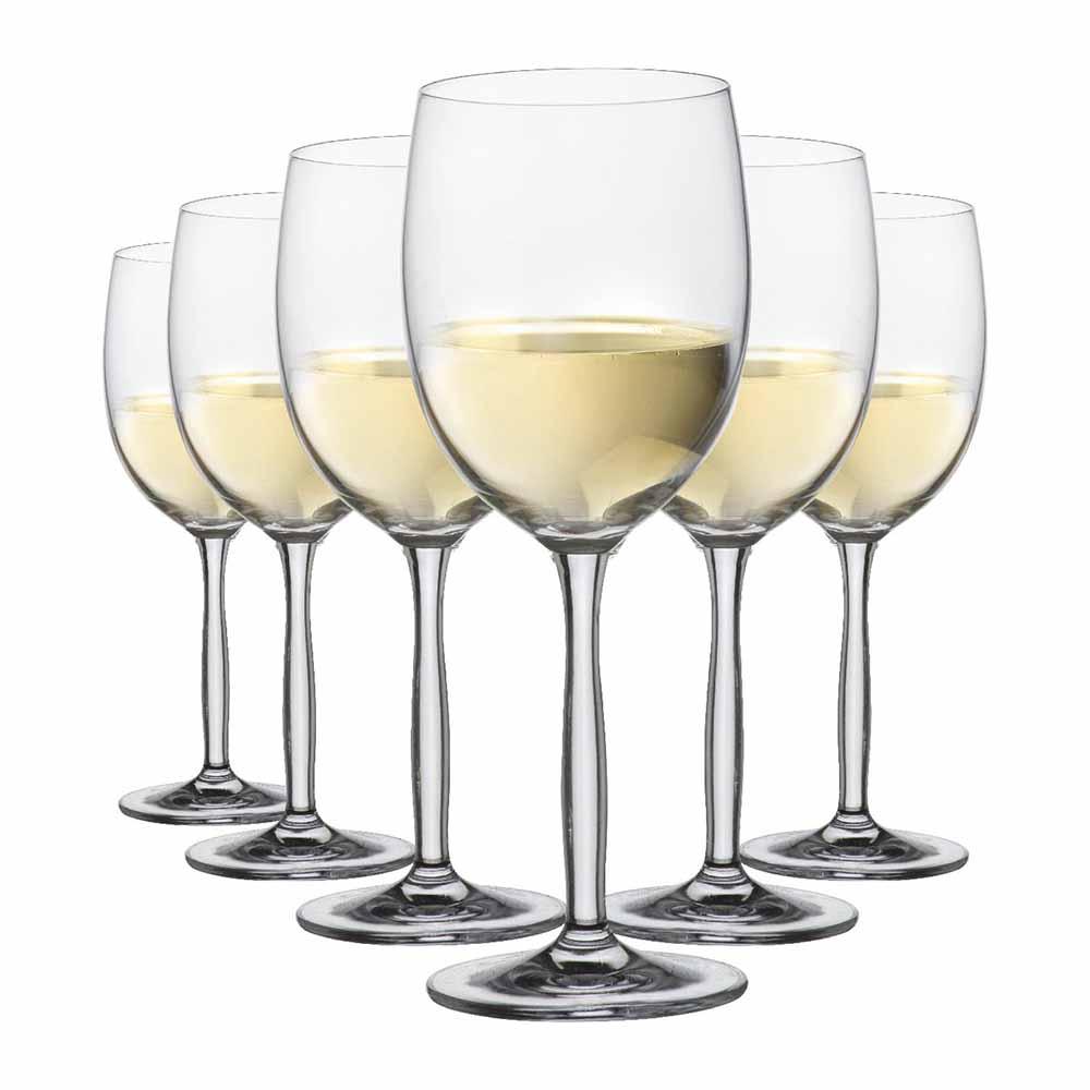 Taça de Vinho Branco de Cristal Ritz 335ml 6 Pcs