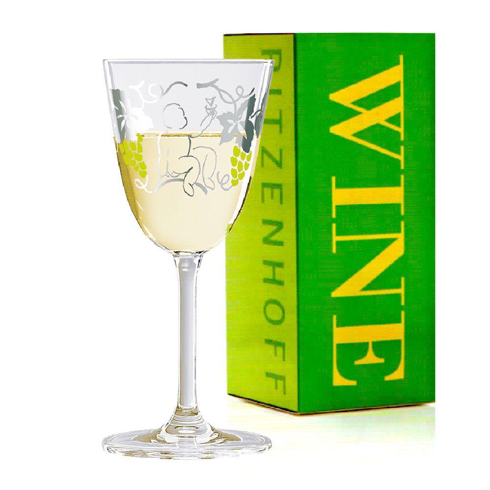 Taça de Vinho Branco Cristal Ritzenhoff Whitewine Glass Dominique Tage 2010 200ml