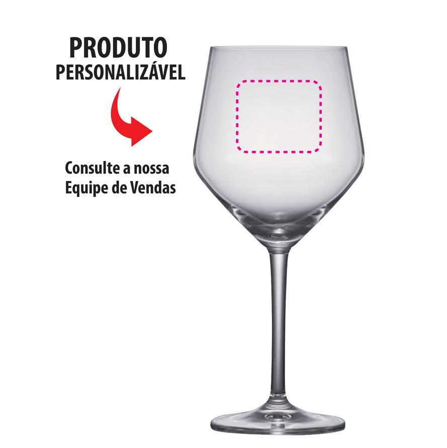 Taça de Vinho de Cristal Filomena Red  Wine 520ml 6 Pcs