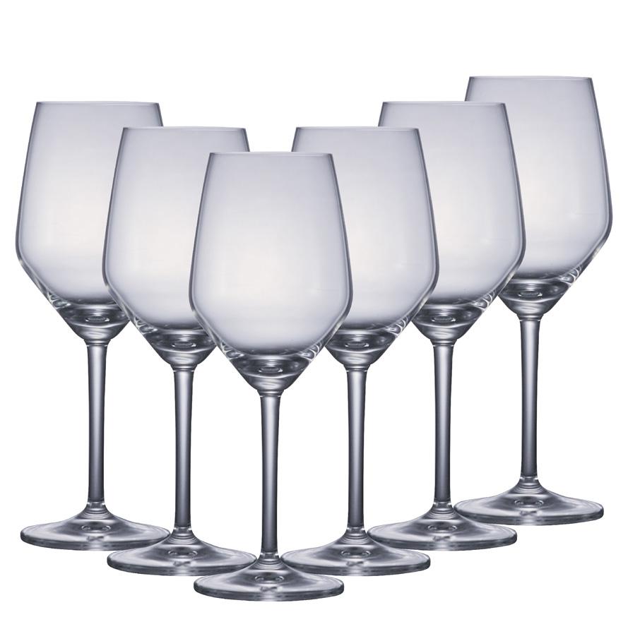 Taça de Vinho de Cristal Filomena White Wine 385ml 6 Pcs