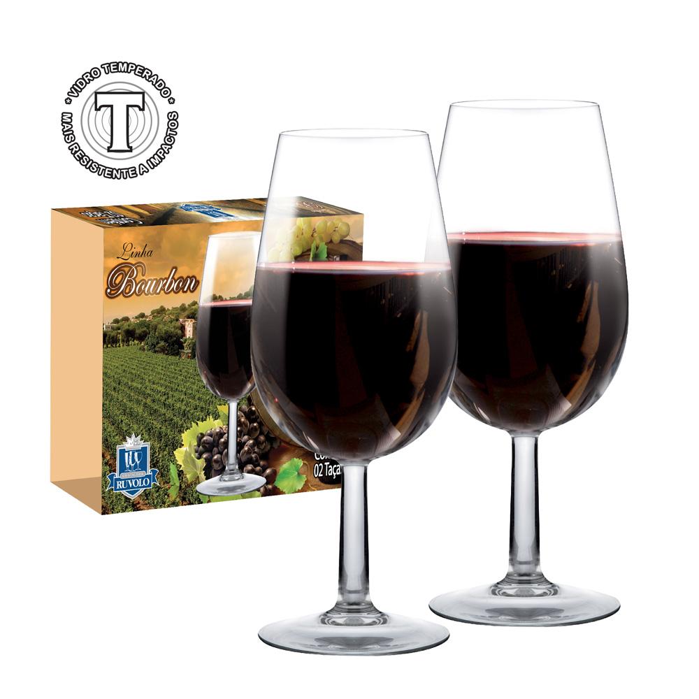Taça de Vinho ISO Bourbon de Vidro Degustação 210ml 2 Pcs