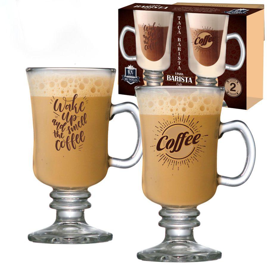 Taça para Café Vidro Barista Wake Up 240ml