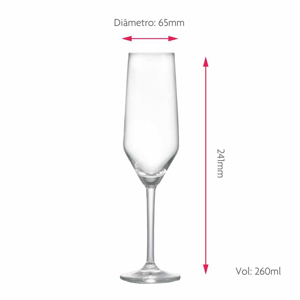 Taça para Champagne Elegance Cristal 260ml