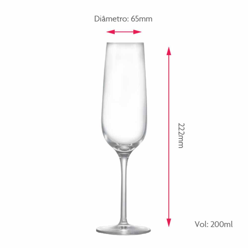 Taça para Champagne Sensation Cristal 200ml