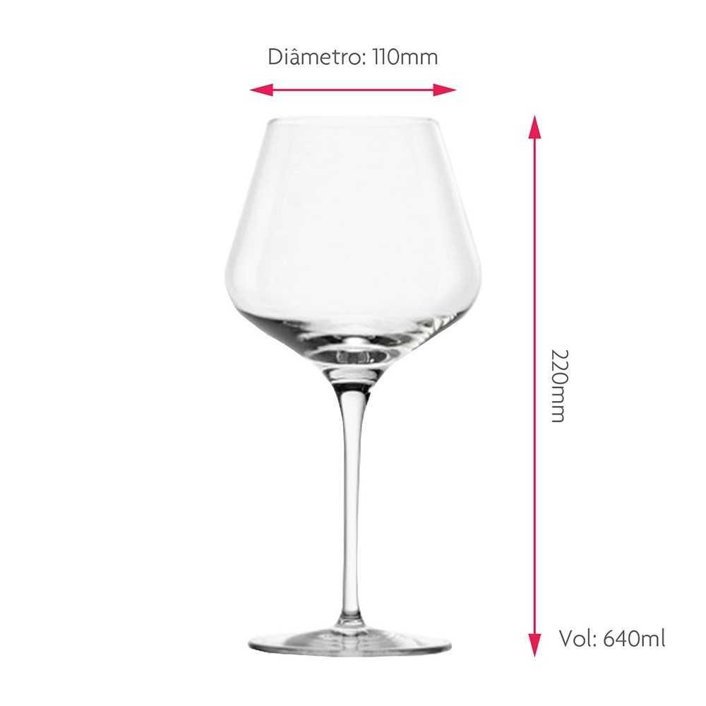 Taça para Vinho Tinto Passion Burgundy Cristal 640ml