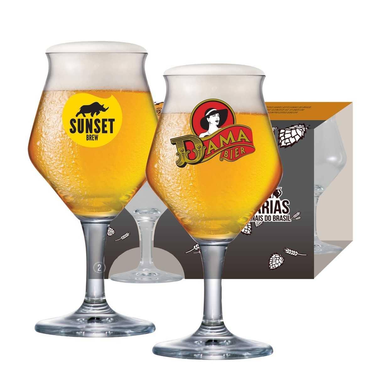 Taças Beer Sommelier Festival da Cerveja Dama/Sunset 435ml
