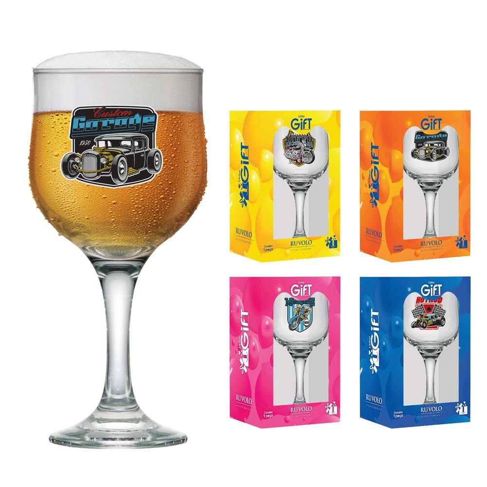 Taças de Cerveja  Motors Coleção 4 Pcs Barcelona 300ml