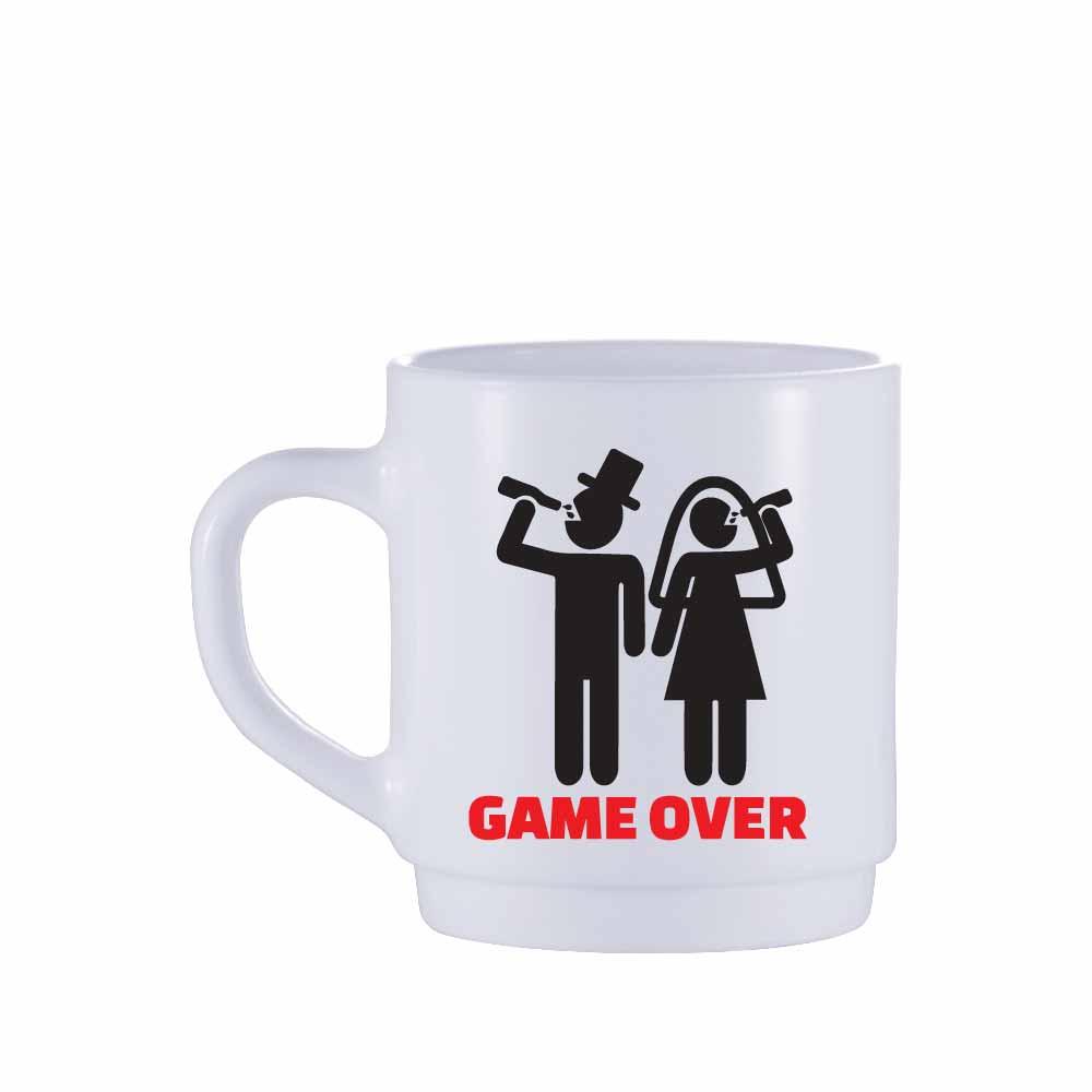 Caneca de Café de Vidro Game Over de 310ml 2 Pcs