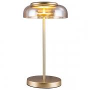 Abajur Bella FO015A Disko 1L LED 3000k 400ml 8W Bivolt IP20 420x230Ømm Dourado e Ambar