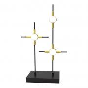 Abajur Bella FT003 Link Preto/Dourado 3L LED 18W 3000K 900lm Bivolt IP20 270x120x430mm