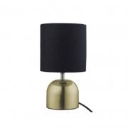 Abajur Casual Light Quality QAB1066-DO Tack 1L E27 40W Ø160x290mm Dourado/Preto