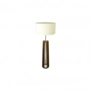 Abajur Madeira Classic Lar 1018/CL Meia Coluna Spot S/ Cúpula 1L E27 450x450x1180mm