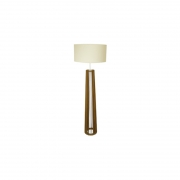 Abajur Madeira Classic Lar 1019/CL Coluna Spot S/ Cúpula 1L E27 550x550x1680mm
