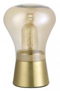Abajur Casual Light Quality QAB1323CH Bead 1L E27 Ø140x215mm Dourado