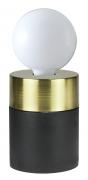 Abajur Casual Light Quality QAB1375DO Tint 1L E27 40W Ø90x120mm Preto/dourado