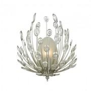 Arandela Bella BO012-OL Lore 1L E14 Bivolt 30x18x36cm Prata Envelhecida e Transparente