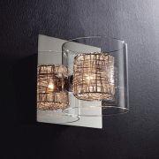 Arandela Bella HO110A Ravel 1L G9 15x13x13cm Cromado/Transparente
