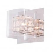 Arandela Bella HO110B-OUTLET Ravel 1L G9 15x16x16cm Cromado/Transparente