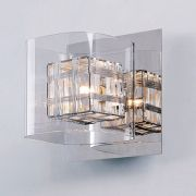 Arandela Bella HO110B Ravel 1L G9 15x16x16cm Cromado/Transparente