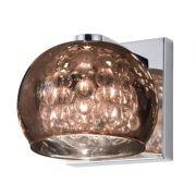 Arandela Bella HO7616CO Soho 1L G9 Bivolt 13x12x16cm Cobre/Transparente