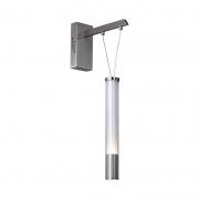 Arandela Bella RE016 Água Nickel Transparente/Branco 1L LED 3000K 400lm 6,4W Bivolt IP20 100x200mm