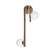 Arandela Casual Light Quality AR1409BR Laticius 2L G9 10W 660x300x200mm Dourado/Branco
