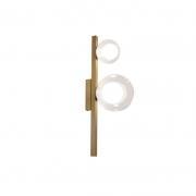 Arandela Casual Light Quality ARH1535TRDO Orbit  2L G9 10W 160X120X400mm Dourado